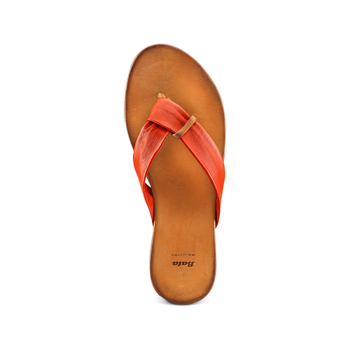Infradito in pelle bata, arancione, 564-5321 - 17