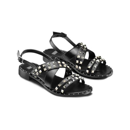 Sandali con borchie bata, nero, 561-6245 - 16