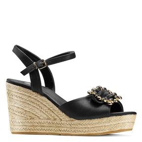 Sandali con applicazione bata, nero, 769-6237 - 13