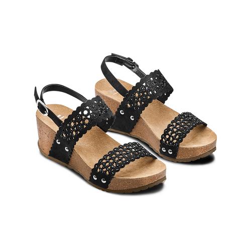 Sandali traforati bata, nero, 669-6356 - 16