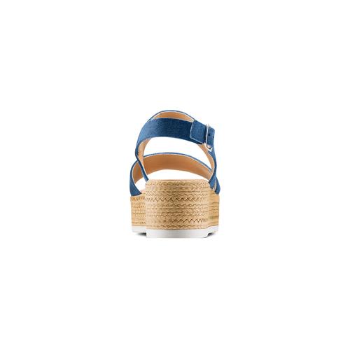 Sandali platform bata, blu, 663-9101 - 15