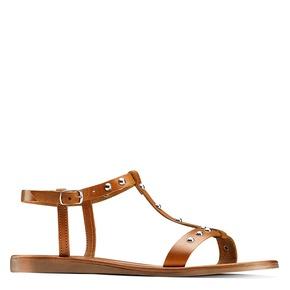 Sandali flat bata, marrone, 564-3211 - 13