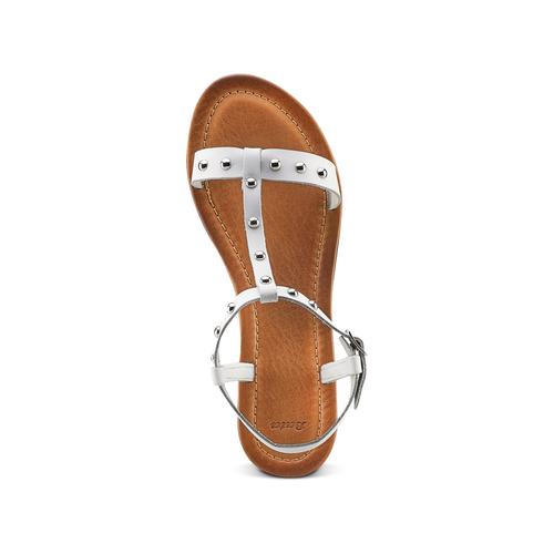 Sandali flat bata, bianco, 564-1211 - 17