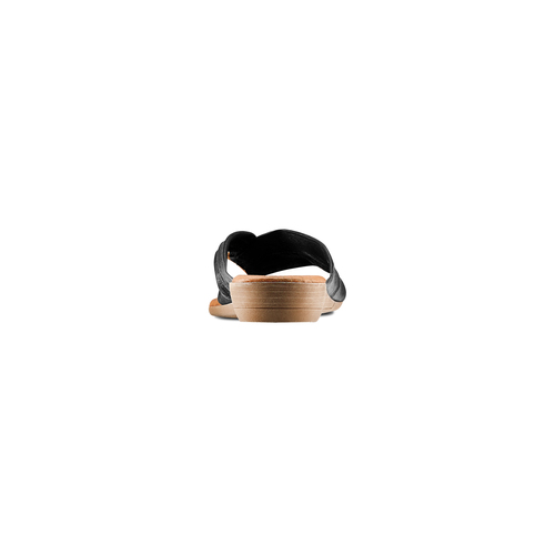 Infradito in pelle bata, nero, 564-6318 - 15