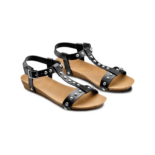 Sandali casual da donna bata, nero, 561-6546 - 16