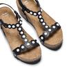 Sandali con applicazioni bata, nero, 661-6361 - 26