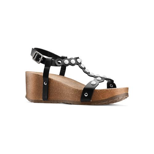 Sandali con applicazioni bata, nero, 661-6361 - 13