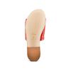 Ciabatte Flat in pelle bata, rosso, 564-5146 - 19