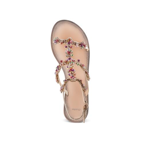 Sandali con applicazioni bata, argento, 561-8544 - 17