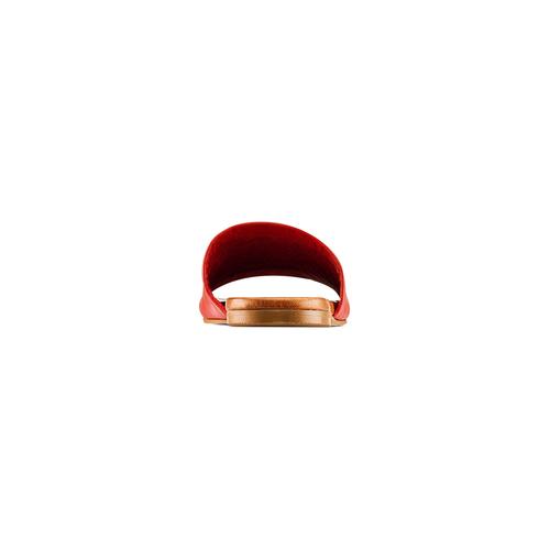 Ciabatte Flat in pelle bata, rosso, 564-5146 - 15