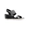 Sandali con strass bata, nero, 761-6321 - 13