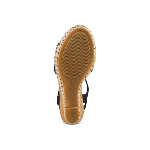 Sandali con zeppa bata, nero, 769-6411 - 19
