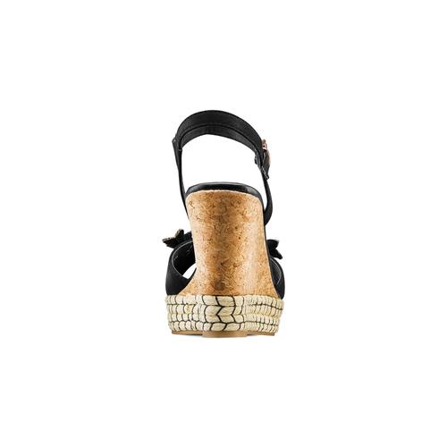 Sandali con zeppa bata, nero, 769-6411 - 15