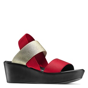 Sandali con fasce elastiche bata, rosso, 779-5102 - 13
