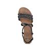 Sandali Flat bata, nero, 561-6539 - 17