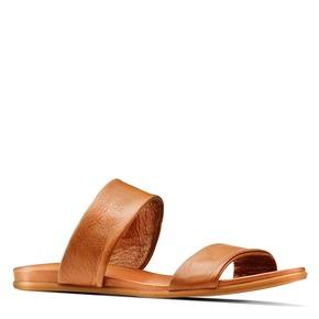 Ciabatte in pelle bata, marrone, 564-3336 - 13