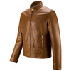 Giacca da uomo in vera pelle bata, marrone, 974-0154 - 16