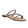 Sandali da donna con strass bata, giallo, 571-8169 - 13